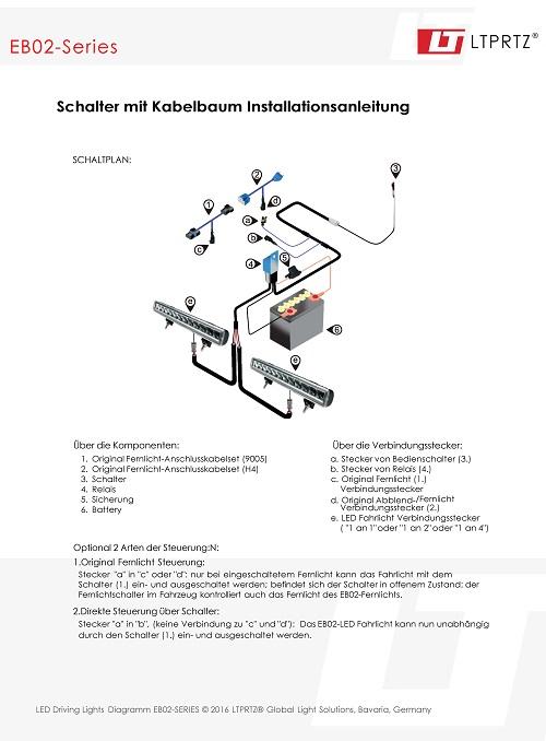 Anschlusskabel 1 LED Fernscheinwerfer | seilwinden-direkt.de