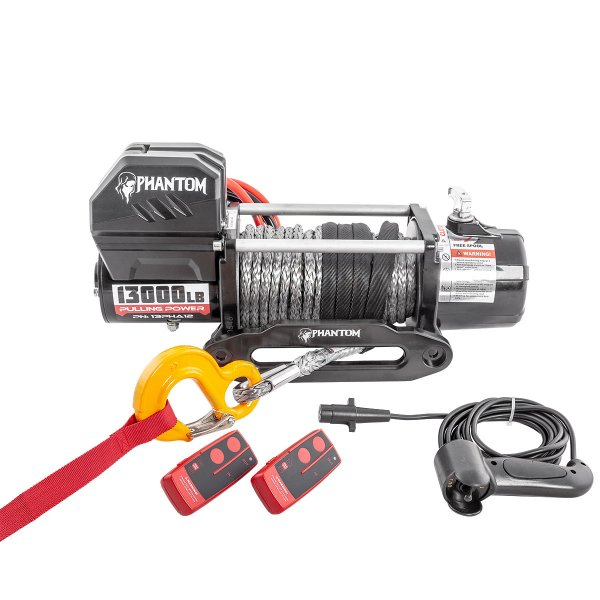 Electric Winch Black Motion Phantom synthetic rope 13000LB 5,9 t 12 V