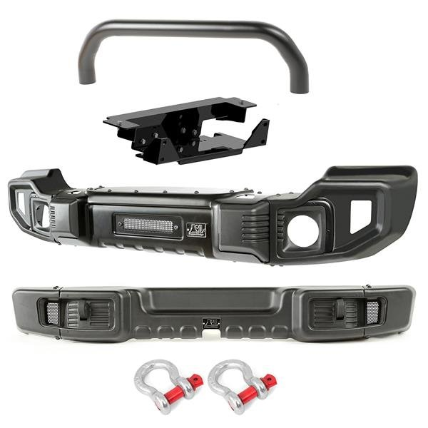 Spartacus Bumpers, F&R, Over-Rider/Winch Plate; 07-16 Jeep Wrangler JK