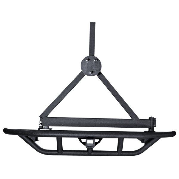 RRC Rear Bumper/Tire Carrier, 2 Inch Hitch; 87-06 Jeep Wrangler YJ/TJ
