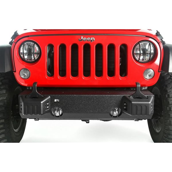 XHD Front Bumper Base, Tow Point Covers; 07-16 Jeep Wrangler JK