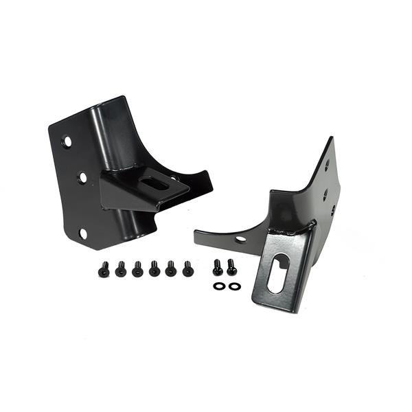 Windshield Auxiliary Light Mounting Brackets; 97-06 Jeep Wrangler TJ