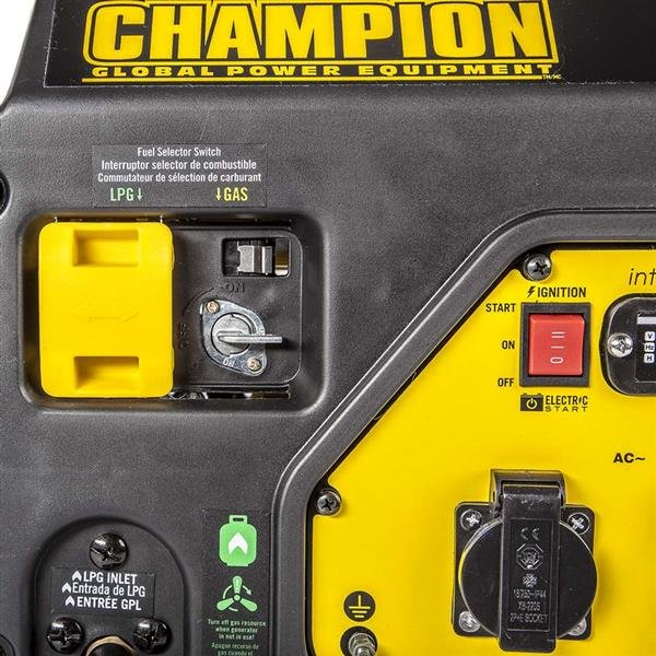 CHAMPION 2800 WATT DUAL FUEL GENERATOR WITH ELECTRIC START (220V EURO)